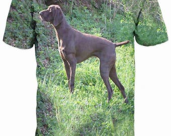New ultramodern 3D  High Quality  Print Hunting Dog short Sleeve Camouflage T-shirt
