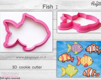 Fish2 - 3D cookie cutter