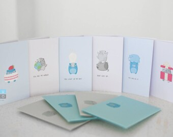 Bear and Cat Gift Cards