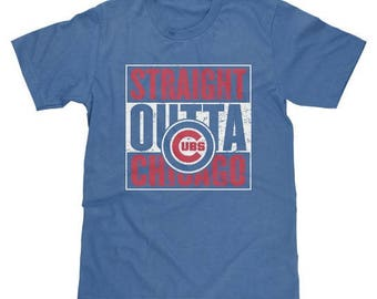 Straight Outta Chicago Cubs Shirt Baseball MLB - Available in Adult & Youth Sizes