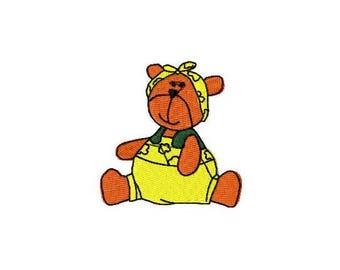 Mini Teddy Bear Machine Embroidery Design-INSTANT DOWNLOAD