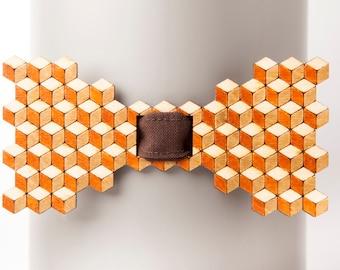 Escher Brown-Walnut Brown Bow Tie