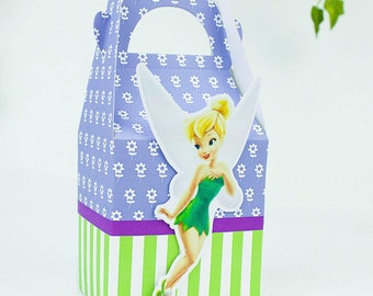 Tinkerbell favor box, Tinkerbell candy box, Tinkerbell treat box, Tinkerbell Goody box, Tinkerbell Favor bag, Tinkerbell party favor box
