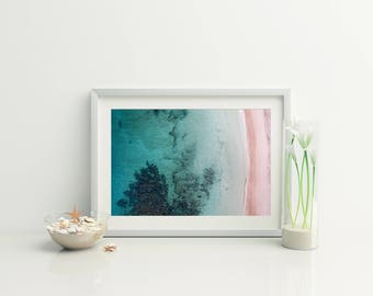 Beach Photography // Beach Print // Coastal wall print // Beach aerial  // Ocean Photo // Bondi  // Ocean Photography