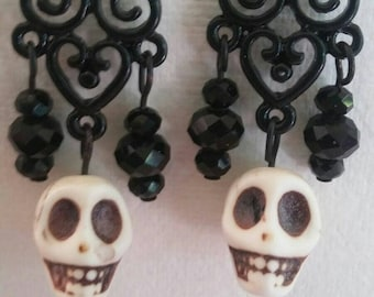 Victorian Skull Earrings