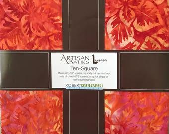 "Robert Kaufman - Artisan Batiks Songbird Ten Squares/Layer Cake by Lunn Studios - 42, 10"" Precut Fabric Squares"