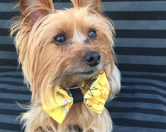 Caribbean Bow tie /Yellow Pet Bowties / Yellow Dog bow tie / Yellow Dog Bowties / Yellow Pet Bowties