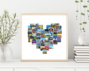 custom edited heart collage