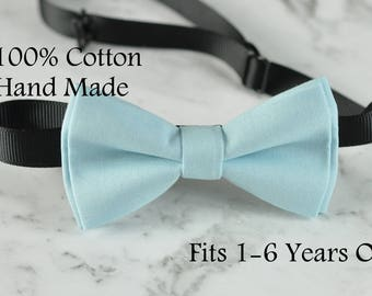 Baby Kids Baby 100% Cotton Baby Blue Bow Tie Bowtie Party Wedding 1-6 Years Old