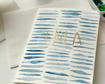 HOLA watercolor card set
