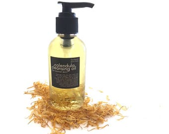 Calendula Cleansing Oil - Oil Makeup Remover - Oil Cleanser - Vegan Skincare - Oil Cleansing Method - Oil Wash - Combination Skin Oil