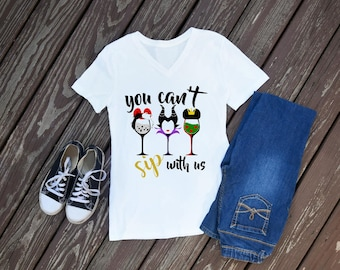 You Can't Sip With Us Women's T-Shirt, Epcot, Food and Wine Festival