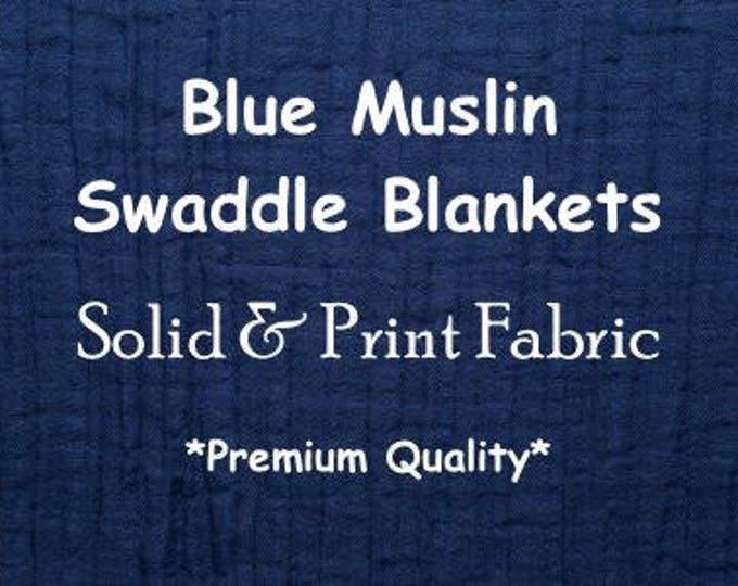 Blue Swaddle Blanket | Newborn Muslin Wrap | Baby Boy Swaddle Set | Newborn Boy Swaddle | Swaddle Blankets | Newborn Swaddler | Boy Swaddles