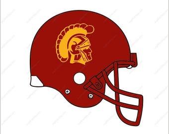USC Trojans Svg football helmet party Svg Dxf Eps Png Ai Digital File design Print Mug Shirt Decal