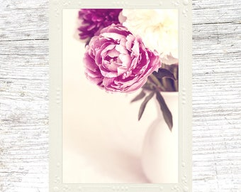 Mother's Day Card Pink Peonies Flower Photography