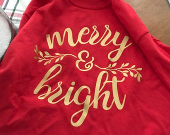 Long sleeve merry and bright