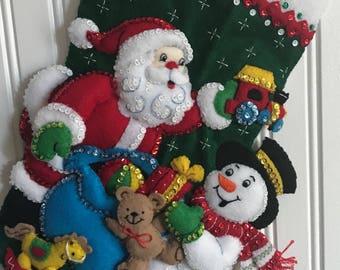 Bucilla - Santa & Snowman