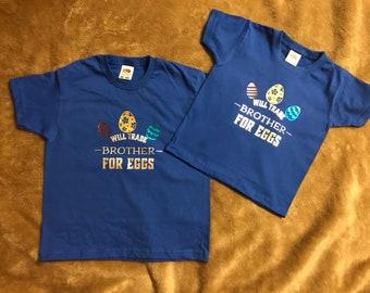 Custom Design Sibling Easter T-Shirt