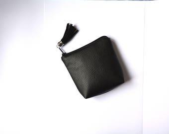 RETRO purse black faux leather