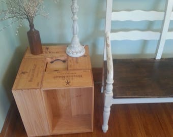 Handmade Wine Crate End Table/Coffee Table/Display Table