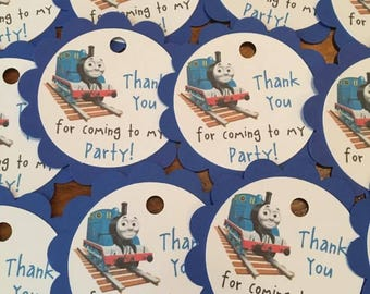 12 Thomas the Train or James the Red Engine Party Favor Tags
