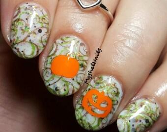 Pumpkin Nail Decal