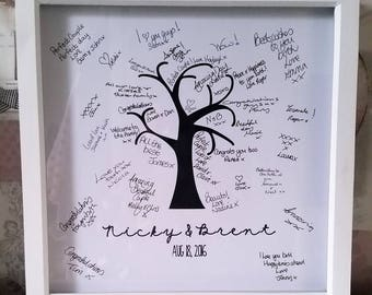 Personalised Wedding Guest Signature Frame, Wedding Tree, Guest Book, memories, wedding