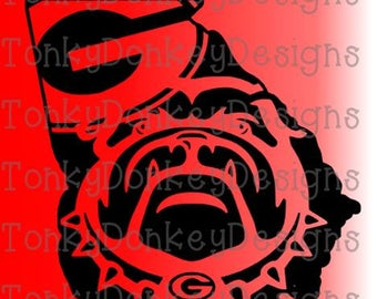 Georgia Bulldogs Digital Cut File (svg, dxf, eps, studio3, jpeg) for cutting machines (Silhouette, Cricut, Brother, etc)