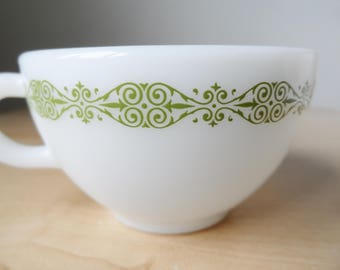 Rare Pyrex Unknown Pattern Green teacup no saucer 701