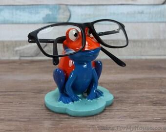 Orange and blue Frog glasses holder