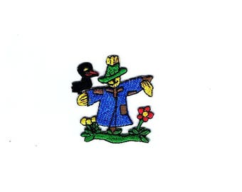 Applique motif patch embroidered Thermocollante scarecrow ref 150 iron-on or sew ref 207