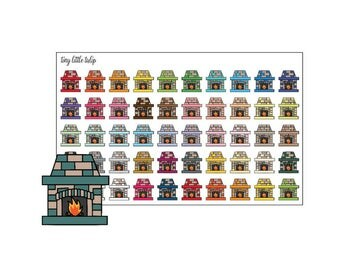 Planner Stickers Fireplaces