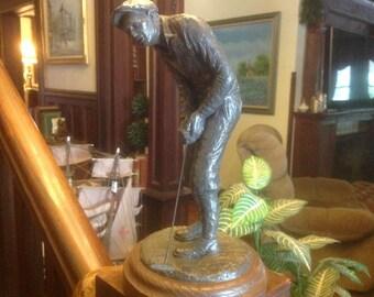 "Vintage Michael Garman Golfer Statue Figurine ""Knickers"""