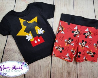 Mickey mouse birthday outfit, 1st birthday outfit, Mickey mouse shirt, mickey outfit