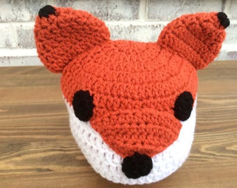 Baby Fox Beanie Hat Crocheted Photo prop