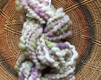 "Handspun Art Yarn ""Lavender and Sage"""
