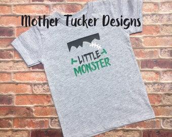 Little Monster Boys Shirt - Halloween Monster Boys Shirt