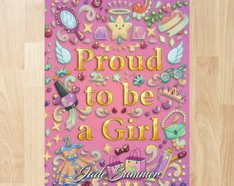 Proud to be a Girl by Jade Summer (Coloring Books, Coloring Pages, Adult Coloring Books, Adult Coloring Pages, Coloring Books for Adults)