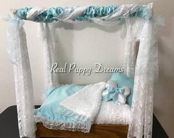Princess Dog Canopy Bed Tiffany Style Canopy Bed Dog Canopy Bed Cat Bed & Canopy dog bed   Etsy