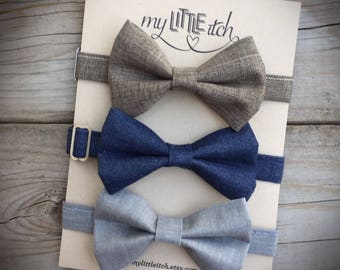 Rustic Baby Bow Ties, Bow Tie set, Vintage Bow Ties, Newborn Photo Props, Newborn Props Boy, Cake Smash Outfit Boy, Baby Boy Bow Ties
