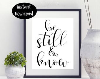 Be Still And Know ,Nursery Decor Digital Download INSTANT DOWNLOAD
