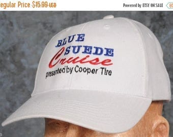 Summer Sale Blue Suede Cruise by Cooper Tire Baseball Cap Hat Blue/Red & White