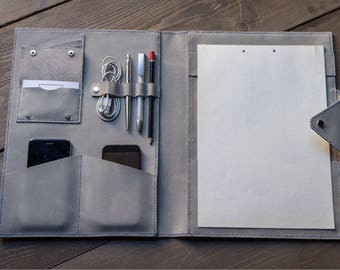 business folder, leather folder, leather workbook, leather portfolio, workbook, iPad Case, portfolio, notebook, free monogram, free logo
