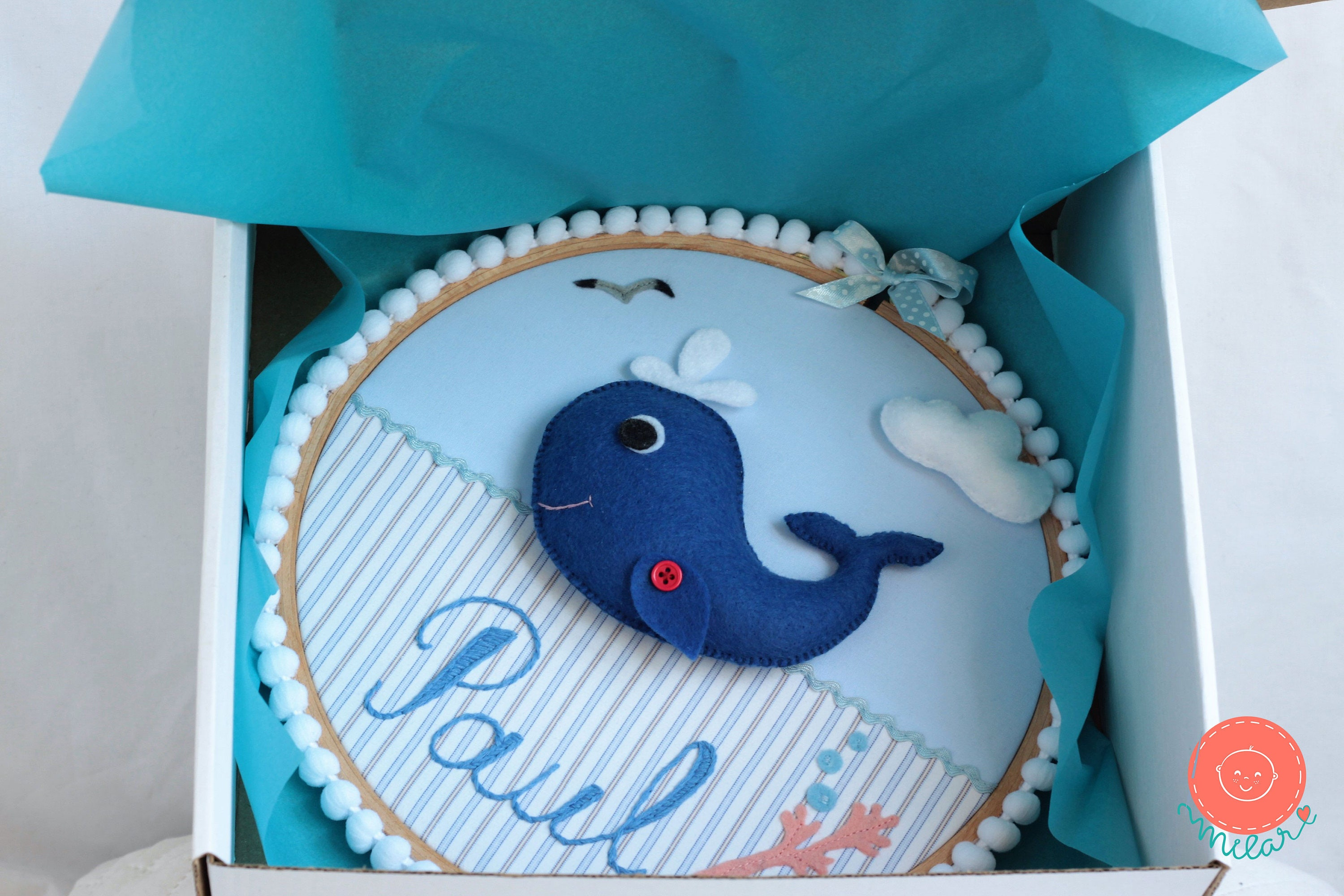 Whale baby shower nautical baby shower decoration nautical whale baby shower nautical baby shower decoration nautical nursery personalized baby gifts negle Gallery