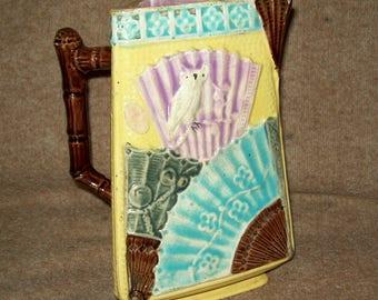1880 Majolica water pitcher