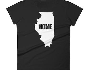Women's illinois Home t-shirt - Illinois t-shirt - Illinois shirt - Funny t-shirt - Funny t-shirts