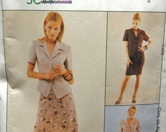 1998 McCall's Sew News 9219 UNCUT petite-able pattern size 8 10 12 Misses unlined jacket and skirts