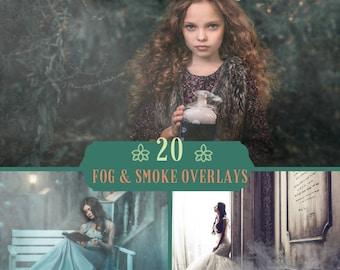 20 Fog smoke overlay, Photoshop Overlay, Halloween overlays, Mystic Clouds Effect, Cigarette Smoke, Mist Smoke, Digital backdrop, Magic