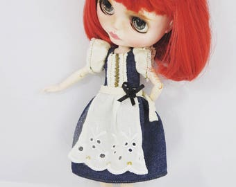 Blythe Denim Apron dress