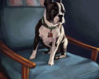 Custom digital pet portrait, portraiture